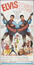 "Movie Posters:Elvis Presley, Double Trouble (MGM, 1967). Three Sheet (41"" X 81""). ElvisPresley.. ..."