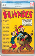 Platinum Age (1897-1937):Miscellaneous, The Funnies #10 (Dell, 1937) CGC VG 4.0 Cream to off-white pages....