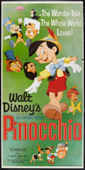 "Movie Posters:Animated, Pinocchio (Buena Vista, R-1962 ). Three Sheet (41"" X 81"").Animated.. ..."