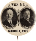 "Political:Pinback Buttons (1896-present), Coolidge & Dawes: A Choice Example of a Rare 1¼"" Jugate. ..."