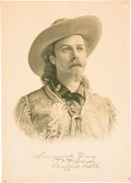 "Western Expansion:Cowboy, William F. ""Buffalo Bill"" Cody: An Uncommon Portrait Print...."