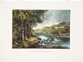 """Antiques:Posters & Prints, """"Silver Creek - California"""": A Fine Currier & Ives Print. ..."""