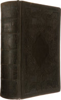 Military & Patriotic:Indian Wars, George Armstrong Custer: His Signed and Inscribed Personal Bible,Which Accompanied Him on the Little Bighorn Expedition. ...