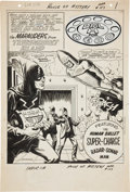 "Original Comic Art:Splash Pages, Jim Mooney House of Mystery #157 ""Dial H for Hero"" SplashPage 1 Original Art (DC, 1966)...."
