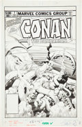 Original Comic Art:Covers, John Buscema Conan the Barbarian Annual #7 Cover OriginalArt (Marvel, 1982).... (Total: 2 Items)