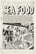"Original Comic Art:Splash Pages, Reed Crandall Piracy #2 ""Sea Food"" Splash Page Original Art(EC, 1954)...."