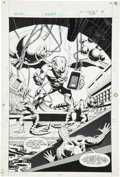 Original Comic Art:Splash Pages, Dick Giordano (attributed) Power Records PR-24 Spider-Man:Invasion of the Dragon Men Splash Page 7 Original Art (...