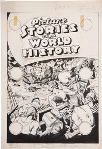 Picture Stories From World History #3 Original Art Cover and Panel Page Group (EC, 1947).... (Total: 43 Original Art)