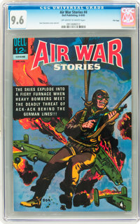Air War Stories #4 File Copy (Dell, 1965) CGC NM+ 9.6 Off-white to white pages