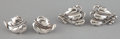 Silver Smalls:Other , TWO PAIRS OF AMERICAN SILVER EARRINGS . Danecraft, Providence,Rhode Island, circa 1950. Marks to double leaf design: DANE...(Total: 4 Items)
