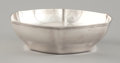 Silver Holloware, American:Bowls, AN AMERICAN SILVER HEXAGONAL BOWL . Tiffany & Co., New York,New York, circa 1911. Marks: TIFFANY & CO. 18165 MAKERS2082,...