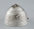 Silver Holloware, American:Other , AN AMERICAN BEE HIVE-FORM LIDDED HONEY POT . Gorham ManufacturingCo., Providence, Rhode Island, circa 1920. Marks: (lion-a...