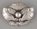 Silver Smalls:Other , A DANISH SILVER BROOCH . Georg Jensen, Inc., Copenhagen, Denmark,after 1945. Marks: Georg Jensen (in dotted oval),92...