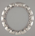 Silver Smalls:Other , A MEXICAN SILVER NECKLACE . Héctor Aguilar, Taxco, Mexico, circa1940. Marks: HA (conjoined), TAXCO, 940. 16 inches...