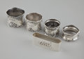 Silver Holloware, American:Napkin Rings, A GROUP OF FIVE AMERICAN SILVER NAPKIN RINGS . Assorted makers,American, circa 1880-1920. Marks: (lion-anchor-G), STERLIN...(Total: 5 Items)
