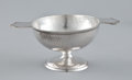 Silver Holloware, American:Cups, AN AMERICAN HAND HAMMERED TWO-HANDLED FOOTED CUP . Marshall Fieldand Company Craft Shop, Chicago, Illinois, circa 1910. Mar...