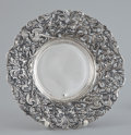 Silver Holloware, Continental:Holloware, A CONTINENTAL SILVER BOWL WITH PIERCED CAST RIM . Maker unknown,probably Continental, circa 1920. Marks: 0950 (effaced)...