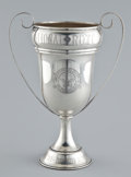 Silver Holloware, American:Vases, AN AMERICAN SILVER TWO-HANDLED PRESENTATION CUP . Maker unknown, probably American, circa 1971. Marks: STERLING. 14-3/8 ...