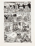 "Original Comic Art:Panel Pages, Robert Crumb Funny Aminals ""What a World! Part 2"" Page 4Original Art (Apex Novelties, 1972)...."