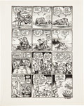 "Original Comic Art:Panel Pages, Robert Crumb Yellow Dog #13/14 ""Chuck and Bob in Ups andDowns"" Page 5 Original Art (Print Mint, 1969)...."