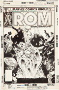 Original Comic Art:Covers, Michael Golden ROM #8 Cover Original Art (Marvel, 1980)....