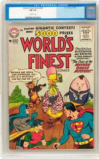 World's Finest Comics #83 (DC, 1956) CGC FN 6.0 Off-white pages