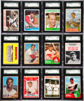 Baseball Cards:Lots, 1954-1967 Topps & Bowman Baseball Stars and Hall of FamersSGC-Graded Collection (30). ...