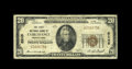National Bank Notes:Pennsylvania, Fairchance, PA - $20 1929 Ty. 1 The First NB Ch. # 8245. ...