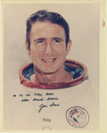 "Autographs:Celebrities, Jim Irwin Signed Color Photograph, 8"" x 10"", ""To my old schoolbuddy/ warm personal regards/ Jim Irwin."" Apollo 15 Lunar...(Total: 1 Item)"