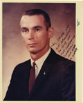 "Autographs:Celebrities, Gene Cernan Signed Color Photograph, 8"" x 10"", ""Joe, Thanks for/your friendship,/ your help, and/ your everlasting/ compe...(Total: 1 Item)"
