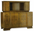 Furniture : Continental, An Austrian Art Deco Buffet Cabinet. Unknown maker, Austria. Circa1930-1940. Burl walnut, mahogany, glass. Unmarked . 62....
