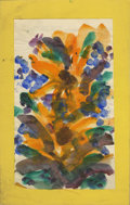 Texas:Early Texas Art - Impressionists, JOSEPHINE MAHAFFEY (American, 1903-1982). Untitled floral.Watercolor and oil on paper, mounted on mat board. 10in. x6-1/4i...