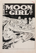Original Comic Art:Covers, Sheldon Moldoff and Johnny Craig Moon Girl #5 Cover andComplete Story Original Art Group (EC, 1948).... (Total: 29 Items)