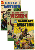 Golden Age (1938-1955):Horror, Black Cat Western #54-56 Group (Harvey, 1955).... (Total: 3 ComicBooks)