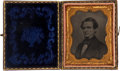 Political:Small Miscellaneous (pre-1896), Jefferson Davis: A Choice Ninth Plate Ambrotype of the Confederate President. ...