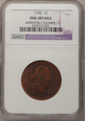 1798 1C First Hair Style--Improperly Cleaned--NGC Details. F. NGC Census: (0/1). PCGS Population (14/137). Mintage: 1,84...