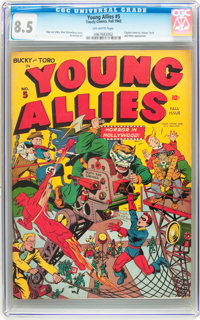 Young Allies Comics #5 (Timely, 1942) CGC VF+ 8.5 Off-white pages