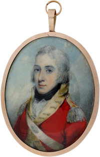 Miniature Painting of an Unknown British Army Officer, c. 1770
