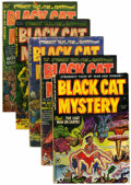 Golden Age (1938-1955):Horror, Black Cat Mystery #35-39 Group (Harvey, 1952).... (Total: 5 ComicBooks)