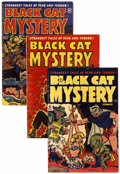 Golden Age (1938-1955):Horror, Black Cat Mystery #32-34 Group (Harvey, 1951-52).... (Total: 3Comic Books)