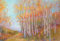 Miscellaneous, MICHAEL ETIE (American, b.1948). Fall Aspens, 2010. Pastelon paper. 22 x 28 inches (55.9 x 71.1 cm). Signed lower right...
