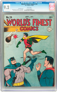 World's Finest Comics #24 (DC, 1946) CGC NM- 9.2 White pages