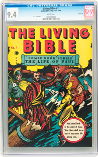 Living Bible #1 Vancouver pedigree (Living Bible Corp., 1945) CGC NM 9.4 White pages