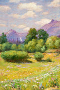 Paintings, JOSEPH HENRY SHARP (American, 1859-1953). Landscape of Glacier, 1905. Oil on canvas. 18 x 12 inches (45.7 x 30.5 cm). Si...