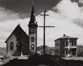 Photographs:20th Century, WRIGHT MORRIS (American, 1910-1998). Church and House, Virginia City, 1941. Gelatin silver, printed later. 7 x 9 inches ...