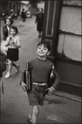 Photographs:20th Century, HENRI CARTIER-BRESSON (French, 1908-2004). Rue Mouffetard,Paris, 1954. Gelatin silver, 1989. Paper: 16 x 11-3/4 inches...