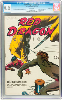 Red Dragon Comics #9 Crowley Copy/File Copy (Street & Smith, 1944) CGC NM- 9.2 White pages