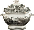 Political:3D & Other Display (pre-1896), William Henry Harrison: Log Cabin Hard Cider Sugar Bowl....