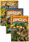 Golden Age (1938-1955):War, Rangers Comics #9, 13, and 15 Group (Fiction House, 1942-43)....(Total: 3 Comic Books)
