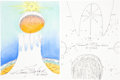 Autographs:Artists, Robert T. McCall: Collection of Original Sketches and Signed Space First Day Covers.... (Total: 12 Items)